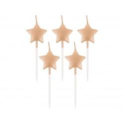 """Žvakutės """"Rose gold žvaigždės"""""""