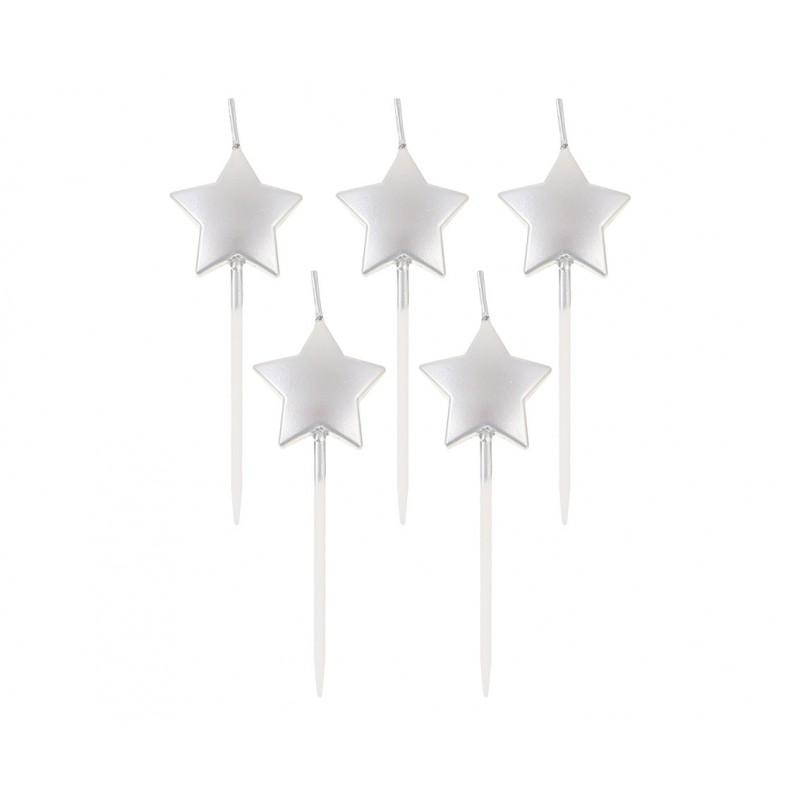 """Žvakutės """"Sidabrinės žvaigždės"""""""