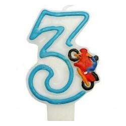 """Žvakutė tortui skaičius """"4"""""""