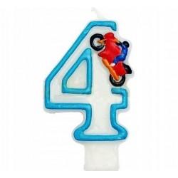 """Žvakutė tortui/skaičius """"4"""""""