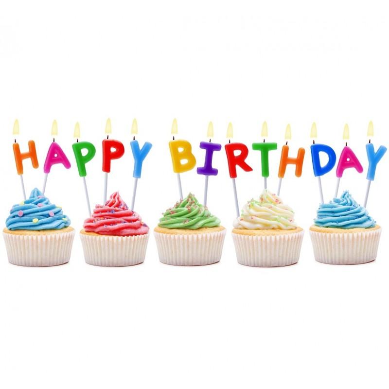 """Torto žvakutės """"Happy Birthday"""""""