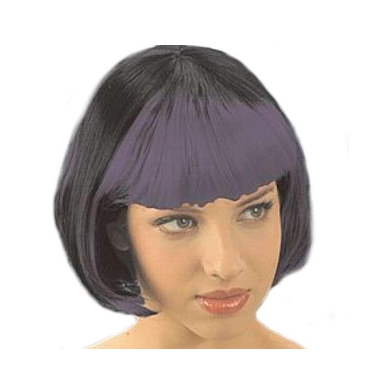 Perukas juodas/violetinis