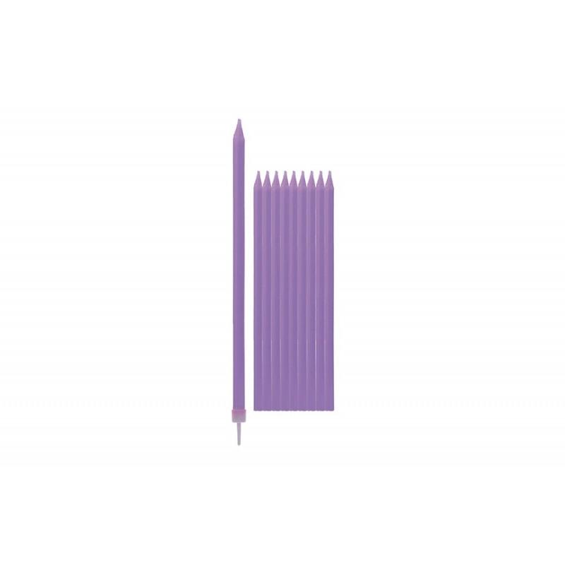 Stebuklingos žvakutės tortui violetinės