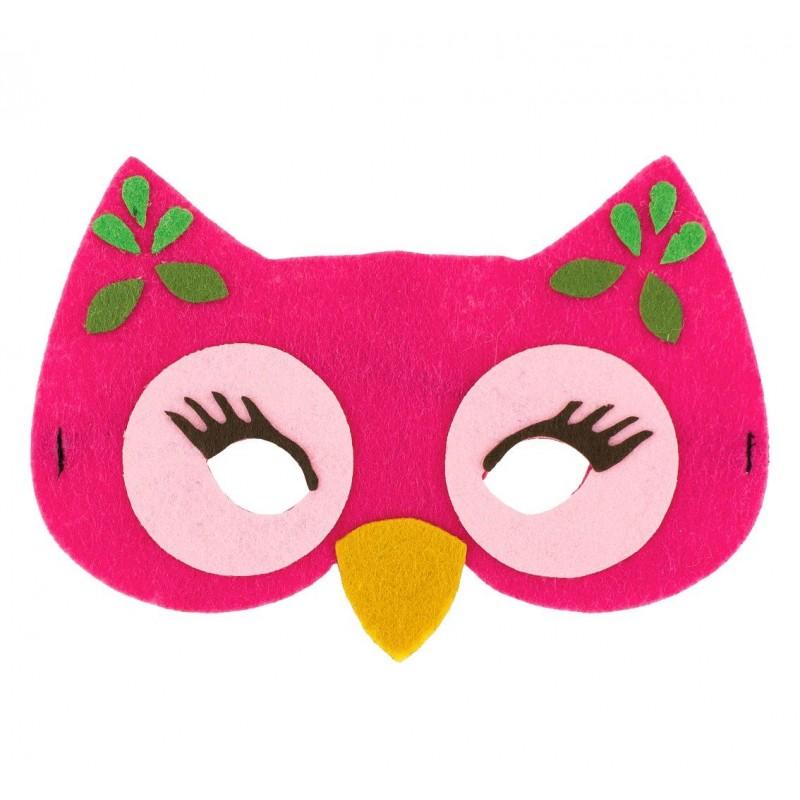 """Velvetinė kaukė """"Rožinė pelėda"""""""