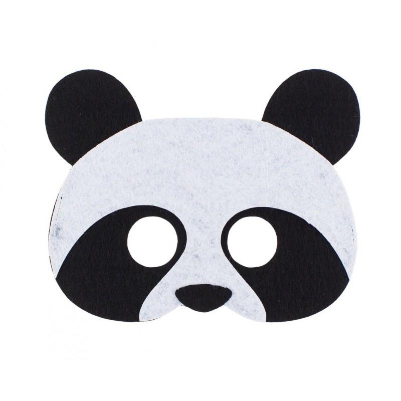 """Velvetinė kaukė """"Panda"""""""