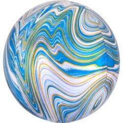 "Orbz. balionas ""Mėlynas marmuras"""