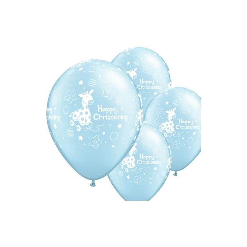 """Guminiai balionai """"Happy Christening"""""""