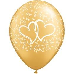 """Guminiai balionai """"Širdys""""/auksiniai"""