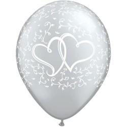 """Guminiai balionai """"Širdys""""/sidabriniai"""