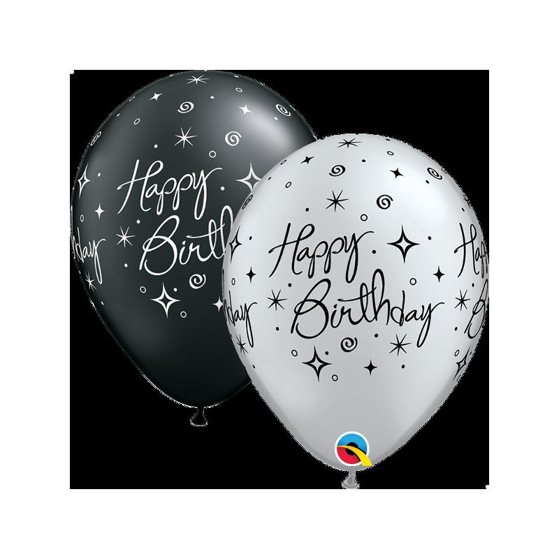 """Guminiai balionai """"HB juodi/sidabriniai"""""""