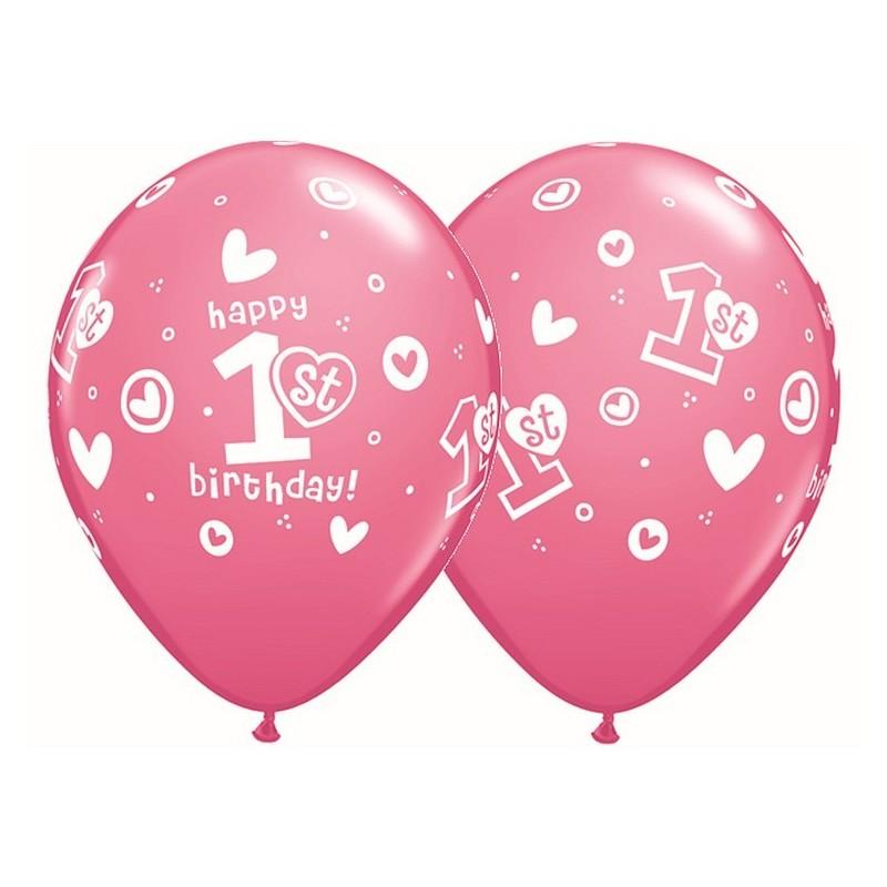 """Guminiai balionai """"1's gimtadienis"""" girl"""
