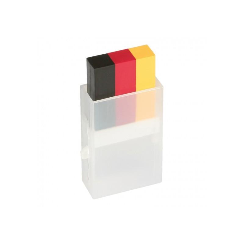 Grimo pieštukas  juoda/raudona/geltona