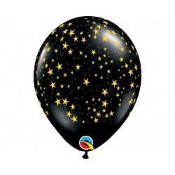 """Guminiai balionai """"Žvaigždės""""/juodi"""