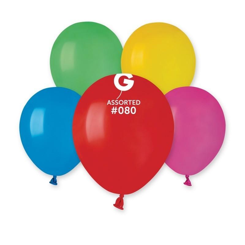 Įvairiaspalviai pasteliniai balionai
