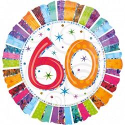 """Folinis balionas """"60""""/spalvotas"""