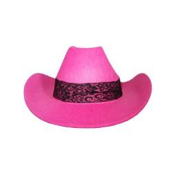 Kaubojaus kepurė rožinė