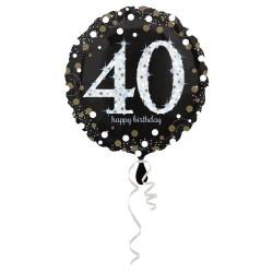 """Folinis balionas """"Skaičius 40""""/juodas"""