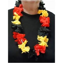 Havajietiška girlianda / juoda/raudona