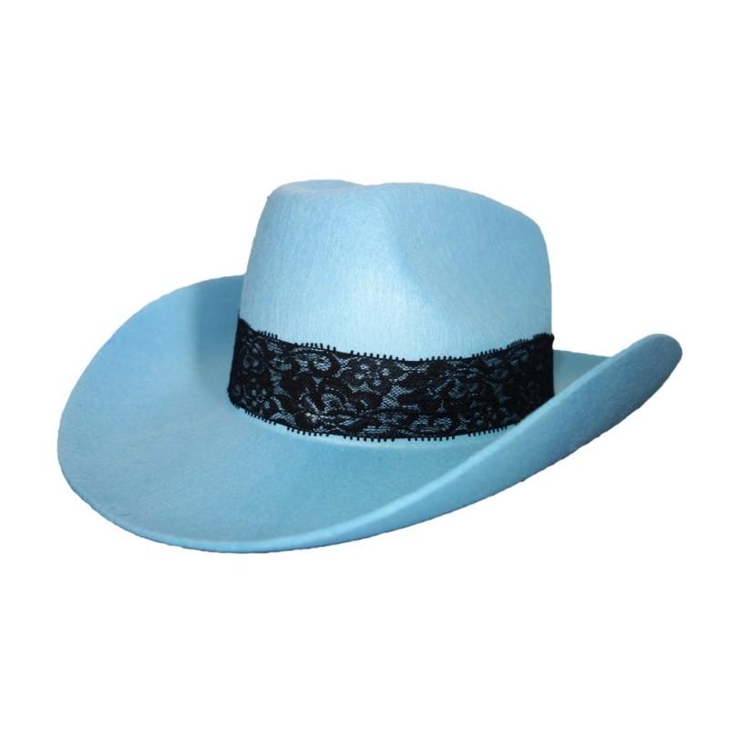 Kaubojaus kepurė melsva