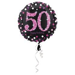 """Folinis balionas """"Skaičius 50""""/ rožinis"""