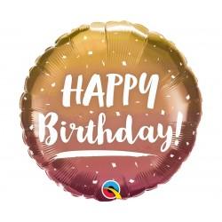 "Folinis bal. ""Happy Birthday""/rose gold"