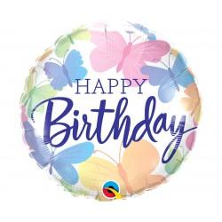 "Folinis balionas ""Happy Birthday""/drug."