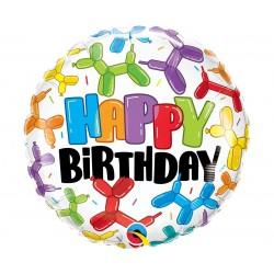 "Folinis balionas ""Happy birthday""/balio."