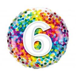 """Folinis balionas """"Skaičius 6""""/burbuliuka"""