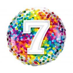 """Folinis balionas """"Skaičius 7""""/burbul."""