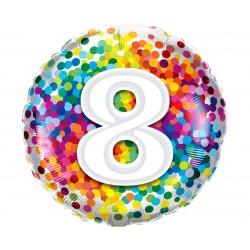 """Folinis balionas """"Skaičius """"8""""/burbul."""