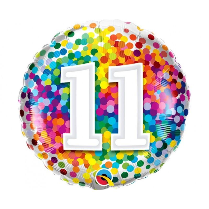 """Folinis balionas """"Skaičius 11""""/burbul."""