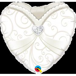 """Fol. bal. """"Vestuvinė suknelė""""/ širdelė"""