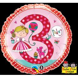 """Folinis balionas """"Princesė 3"""""""