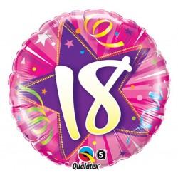 """Folinis balionas """"Skaičius 18""""/rožinis"""