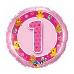 """Folinis balionas """"Meškučiai 1""""/rožinis"""