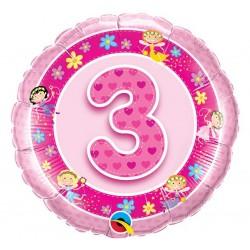 """Folinis balionas """"Fėjos 3""""/rožinis"""