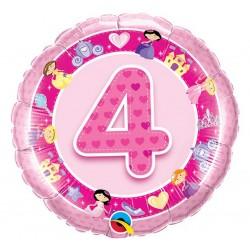 """Folinis balionas """"Princesės 4""""/rožinis"""