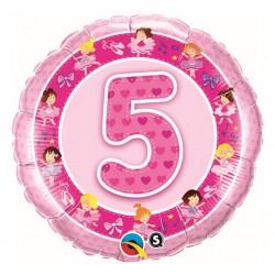 """Folinis balionas """"Balerinos 5""""/rožinis"""