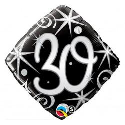 """Folinis balionas """"Skaičius 30""""/juodas"""