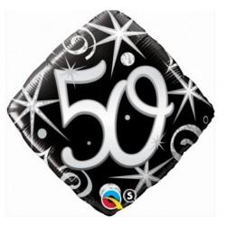 """Folinis balionas """"Skaičius 50""""/juodas"""