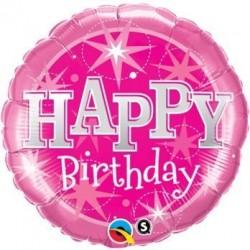 "Folinis balionas ""Happy birthday""/rož."