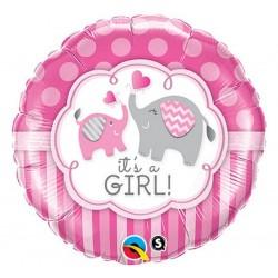 "Folinis balionas ""It's a girl""/drambliai"