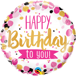"Folinis balionas ""Happy birthday to you"""
