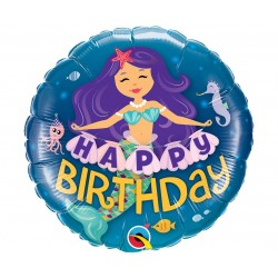 """Fol. balionas """"Happy Birthday""""/undinėlė"""