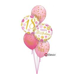 """Folinis balionas """"Skaičius 18""""/burbu."""