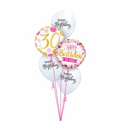 """Folinis balionas """"Skaičius 30""""/burbul."""