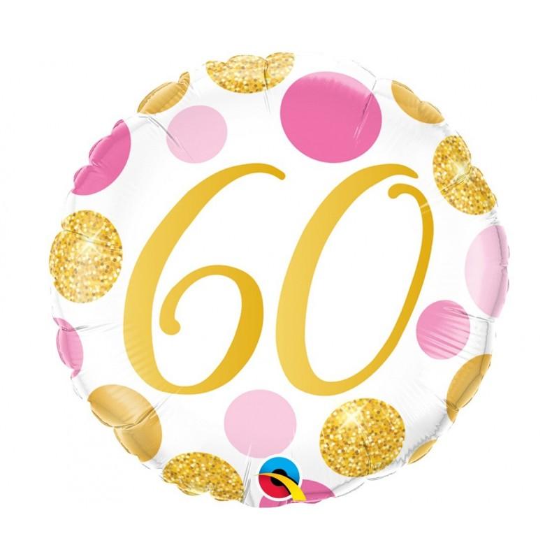 """Folinis balionas """"Skaičius 60""""/burb."""