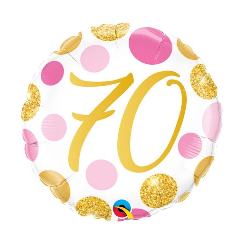"""Folinis balionas """"Skaičius 70""""/burbul."""