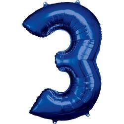 """Folinis balionas """"Skaičius 3"""""""